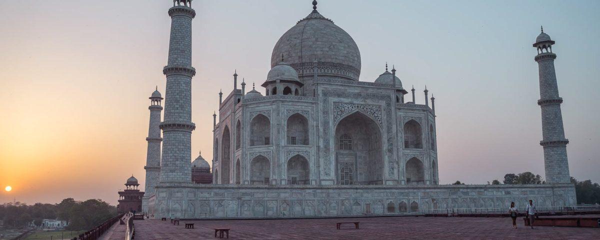 itinerario por el norte de India - Taj Mahal al amanecer - Patoneando blog de viajes