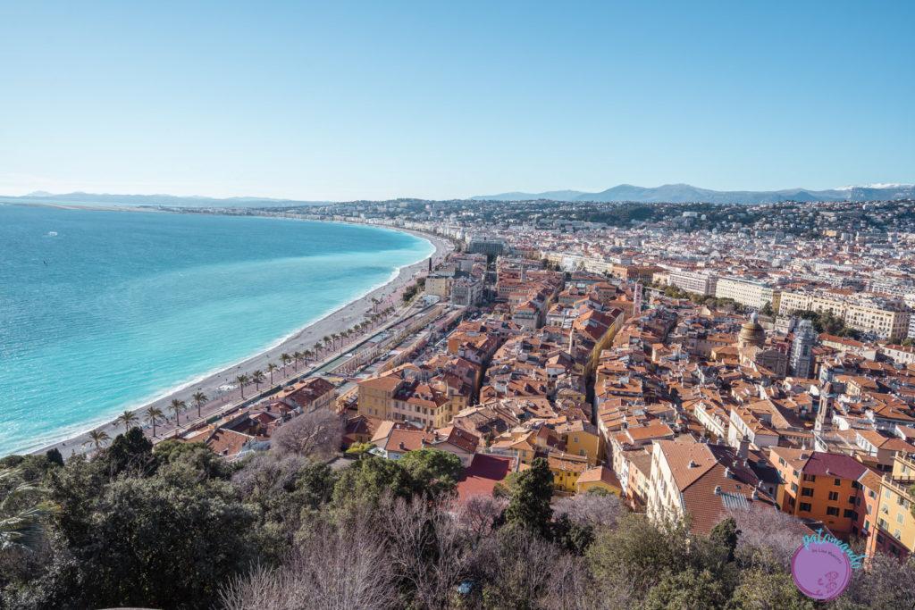 Qué ver en la costa Azul de Francia - Vista de niza desde el mirador del Castillo - la Riviera francesa - Patoneando Blog de viajes