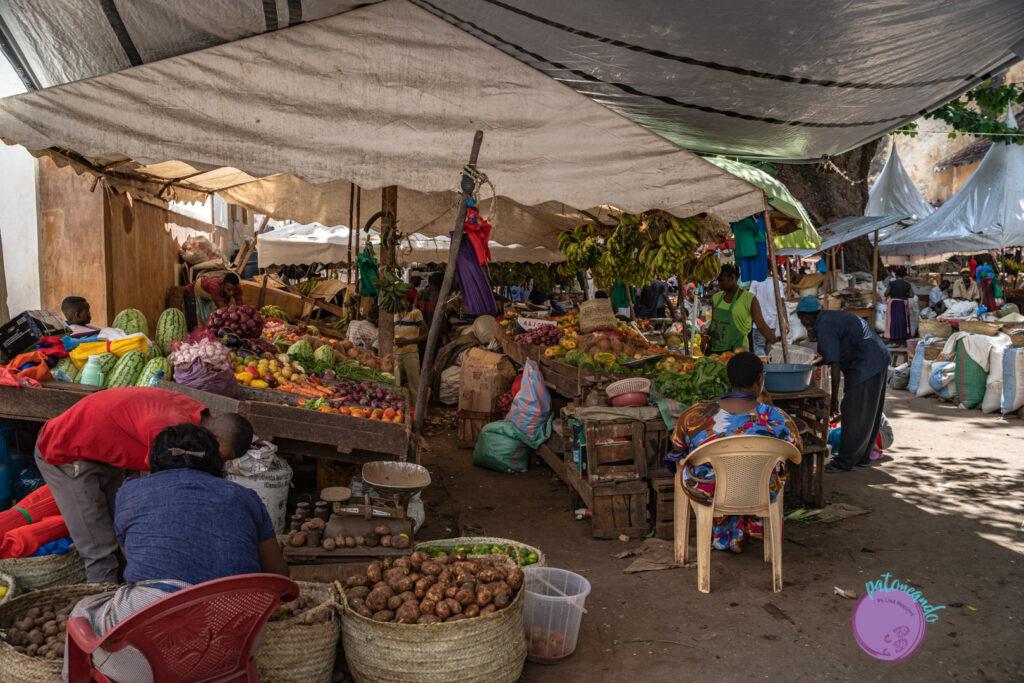 Mercado en Lamu, Kenia